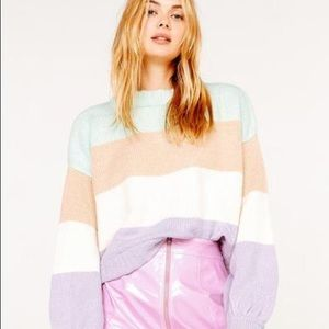 NWT For Love and Lemons Hailey Striped Sweater